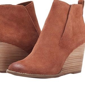 Lucky Brand Carmel Wedge Bootie- Size 7. Brand new